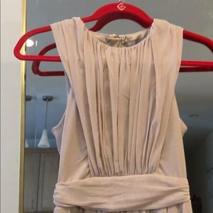 Ruched dusty pink dress